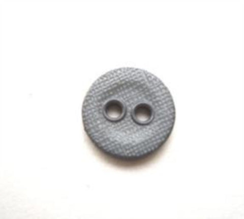 B13557 11mm Light Blue Grey Lightly Textured Linen Effect 2 Hole Button - Ribbonmoon