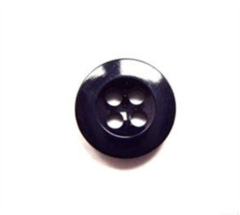 B15808 13mm Navy High Gloss Trouser or Brace Type 4 Hole Button - Ribbonmoon