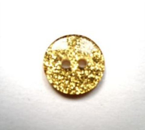B16186 12mm Glitter Gold under a Clear Surface 2 Hole Button - Ribbonmoon