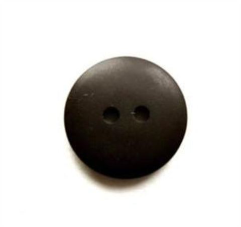 B17150 16mm Black Soft Sheen 2 Hole Button - Ribbonmoon