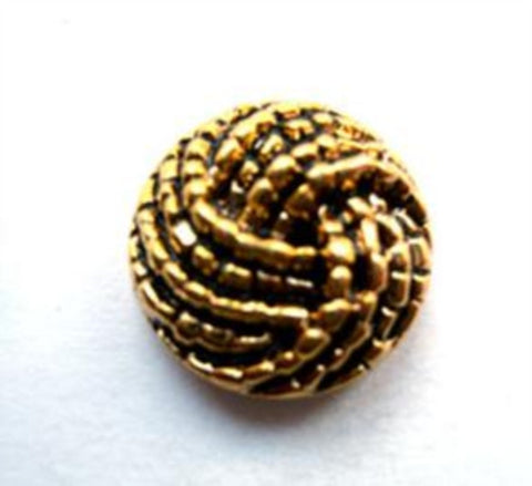 B12175 17mm Metallic Anti Gold Gilded Poly Shank Button - Ribbonmoon