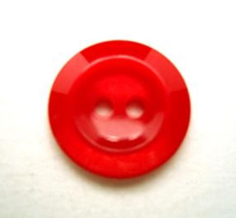 B10547 16mm Red Polyester 2 Hole Button - Ribbonmoon