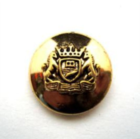 B14875 17mm Gilded Gold Poly Shank Button, Coat of Arms Design - Ribbonmoon