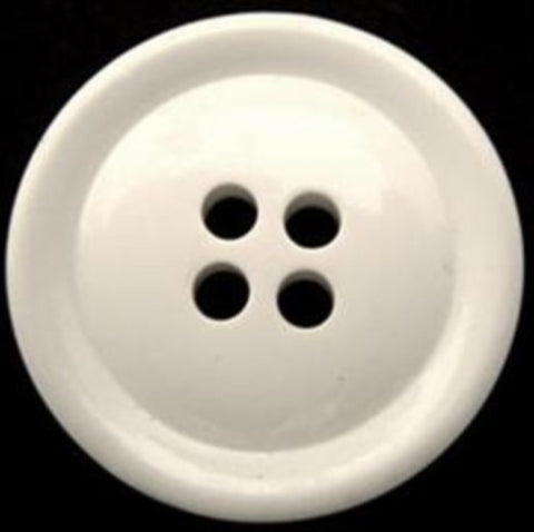 B10693 27mm Off White Glossy 4 Hole Button - Ribbonmoon