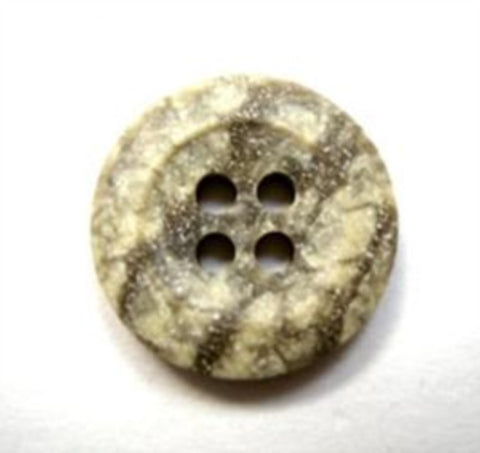 B16499 17mm Stone Effect Speckled Greys Bone Sheen 4 Hole Button - Ribbonmoon
