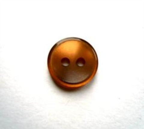 B17165 11mm Sable Brown Polyester Shirt Type 2 Hole Button