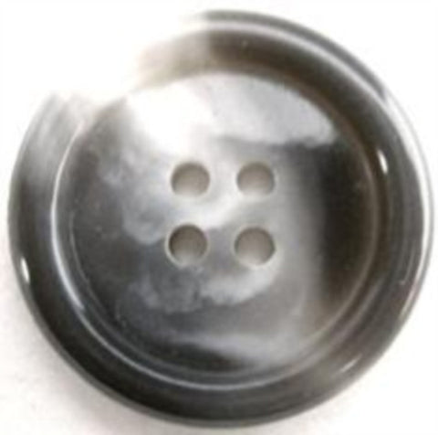 B15866 26mm Mixed Greys Faux Horn 4 Hole Button