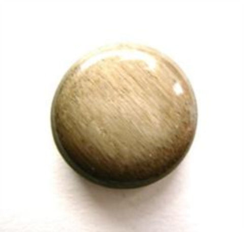 B11866 17mm Frosted Brown High Gloss Shank Button - Ribbonmoon