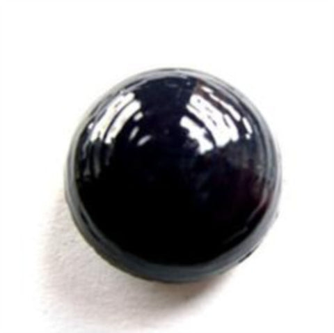 B13861 18mm Navy High Gloss Domed and Lightly Textured Shank Button - Ribbonmoon
