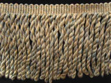 FT682 125mm Beige, Cream and Pale Dusky Blue Bullion Fringe - Ribbonmoon
