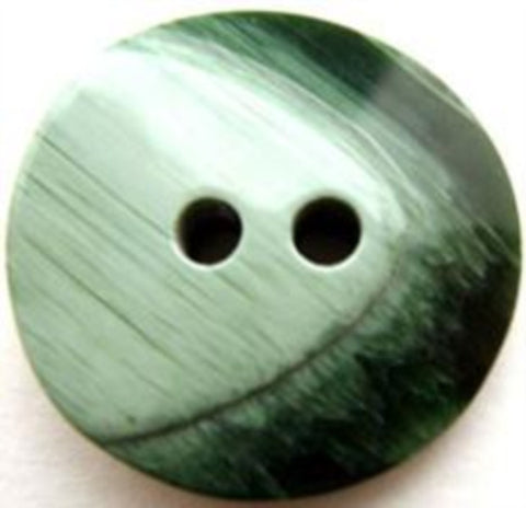 B13436 25mm Frosted Forest Green Chunky Gloss 2 Hole Button - Ribbonmoon