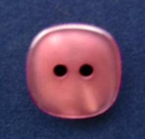 B2780 15mm Dusky PInk Pearlised Surface Shimmery 2 Hole Button - Ribbonmoon