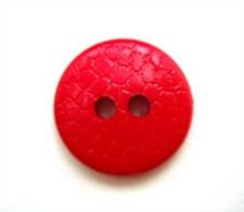 B5089 15mm Pale Red Lightly Textured 2 Hole Button - Ribbonmoon