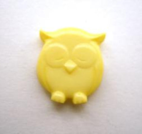 B14240 16mm Lemon Owl Shaped Novelty Shank Button - Ribbonmoon