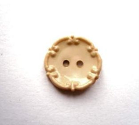 B16833 13mm Buttercotch Gloss 2 Hole Button - Ribbonmoon