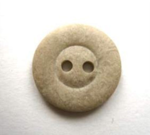 B16646 18mm Stone Beige Bone Sheen 2 Hole Button - Ribbonmoon
