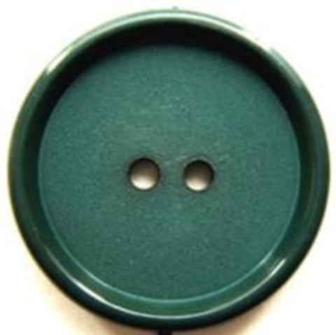 B7243 25mm Forest Green Matt Centre 2 Hole Button - Ribbonmoon