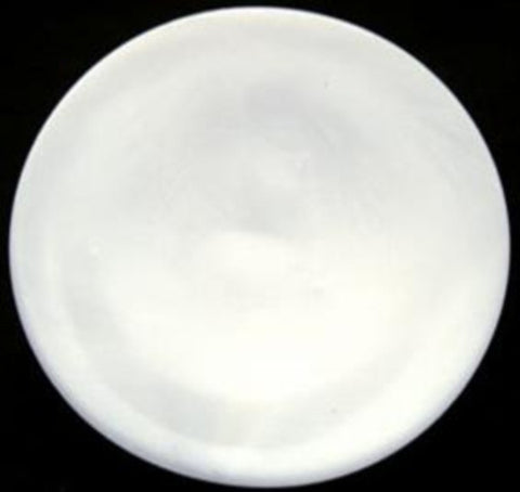 B17670 31mm Bright Pearlised White Concave Centre Shank Button - Ribbonmoon