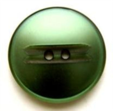 B6377 22mm Bottle Green Pearlised 2 Hole Button - Ribbonmoon