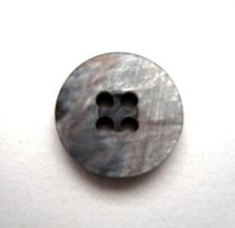 B9912 15mm Grey and Pearlised Shimmery Iridescent 4 Hole Button