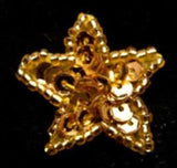 M312 29mm Gold Star Motif with Beads and Sequins - Ribbonmoon