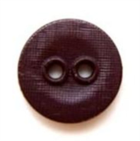 B5284 14mm Dark Aubergine Lightly Textured Linen Effect 2 Hole Button - Ribbonmoon
