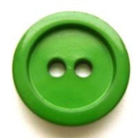B5629 17mm Emerald Green Gloss 2 Hole Button - Ribbonmoon
