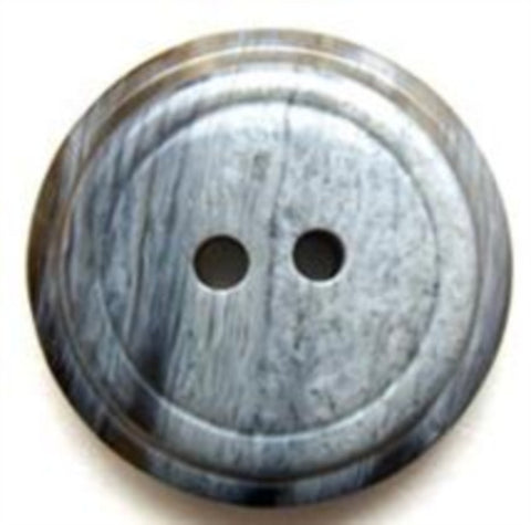 B6495 23mm Tonal Greys High Gloss 2 Hole Button