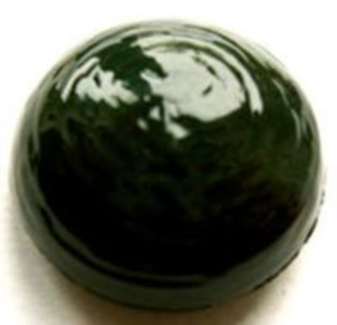 B11048 23mm Forest Green Domed High Gloss Shank Button - Ribbonmoon