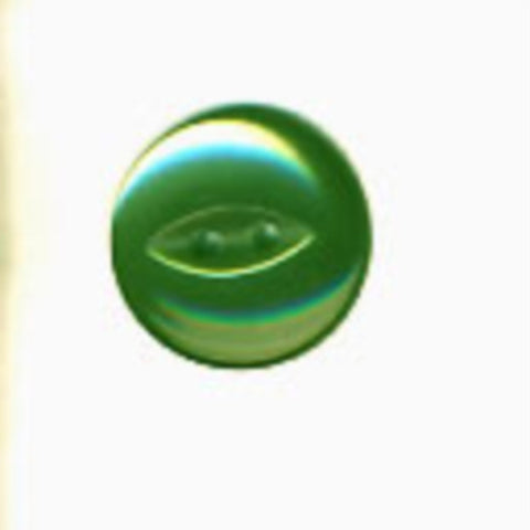 B16971 21mm Dusky Cypress Green Polyester Fish Eye 2 Hole Button - Ribbonmoon