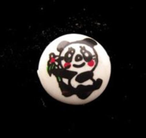 B15073 13mm Panda Bear Design Childrens Shank Picture Button - Ribbonmoon