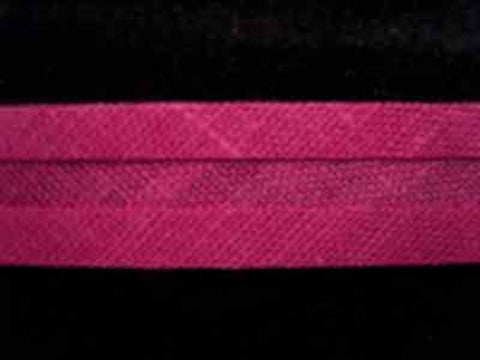 BB174 13mm Raspberry 100% Cotton Bias Binding - Ribbonmoon