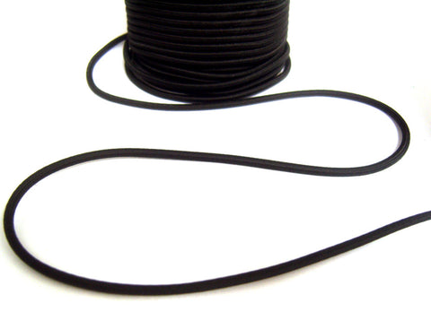 EB143 1.5mm Black Rounded Hat Elastic Cord