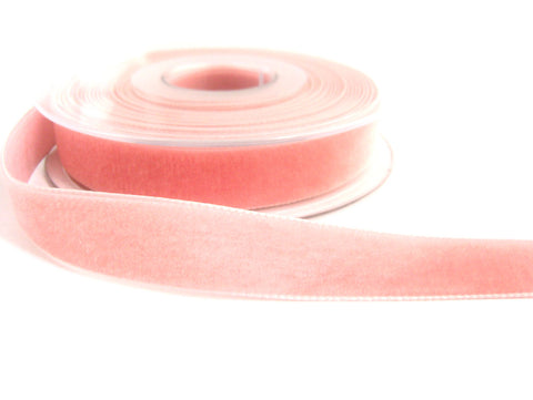 R8962 36mm Dusty Rose Pink Nylon Velvet Ribbon by Berisfords