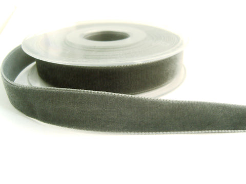 R8961 36mm Dolphin Grey Nylon Velvet Ribbon by Berisfords