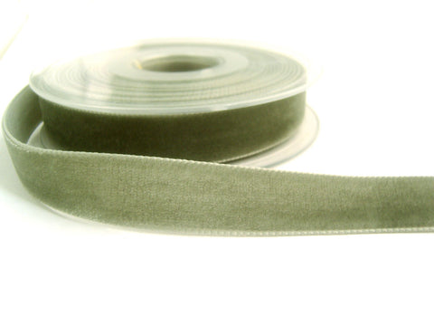 R8960 36mm Grey Nylon Velvet Ribbon by Berisfords