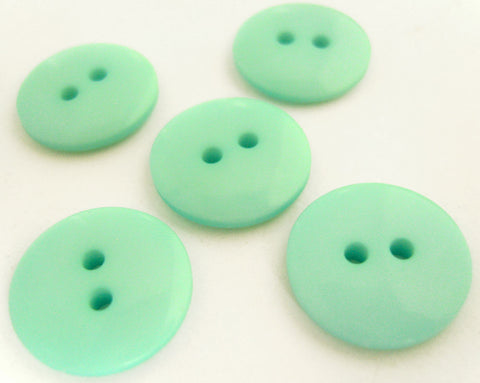 B12828 17mm Aqua Gloss Polyester 2 Hole Button