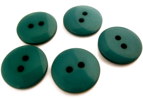 B12854 17mm Teal Gloss Polyester 2 Hole Button