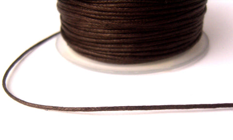 THONG6 1mm Dark Brown Round Cotton Thonging with a Waxed Finish