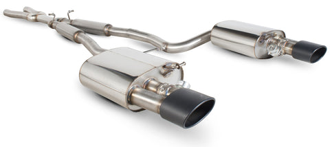 Audi RS4 B7 4.2 V8 (06-08) Scorpion Cat back Resonated System (Black Ceramic Tailpipes)