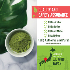 Premium Organic Japanese Matcha Green Tea Powder - Culinary Grade - 226gm / 8oz