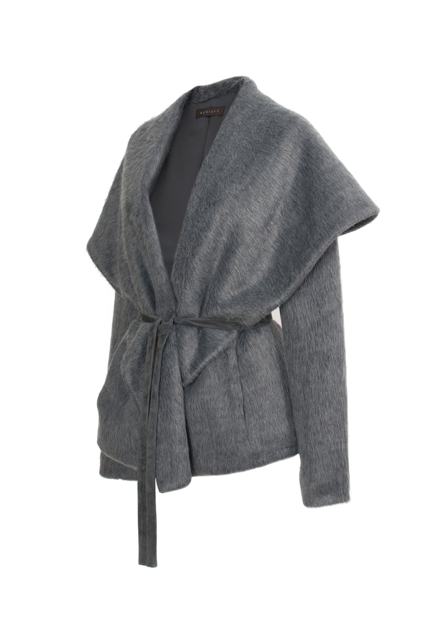 Wide Collar Wrap Jacket