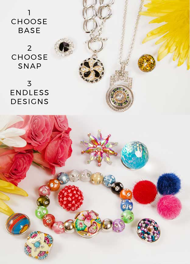 Gracie roze snap jewelry