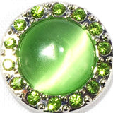 Soft Green Stone Crystal Popper