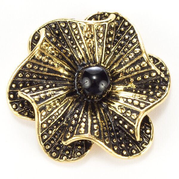 Black and Gold Flower Snap