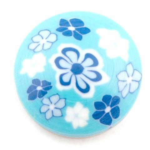 Blue Clay Flower Popper
