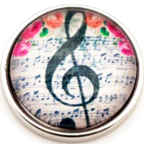 Music Note Pink Flower Popper
