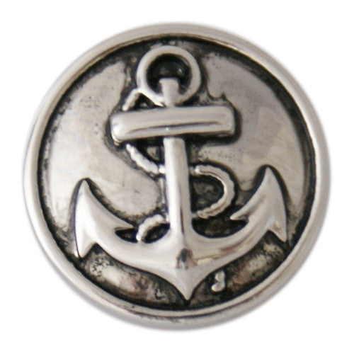 Silver Metal Anchor Snap - Gracie Roze Yourself Expression Snap Jewelry