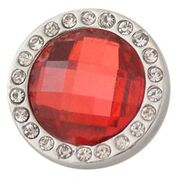 Crystal Red Burst Snap - Gracie Roze Yourself Expression Snap Jewelry