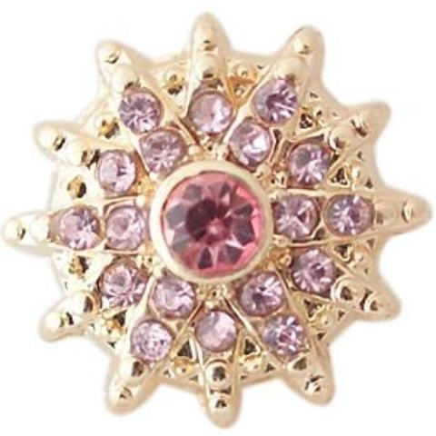 Gold and Pink Sun Mini Snap - Gracie Roze Yourself Expression Snap Jewelry
